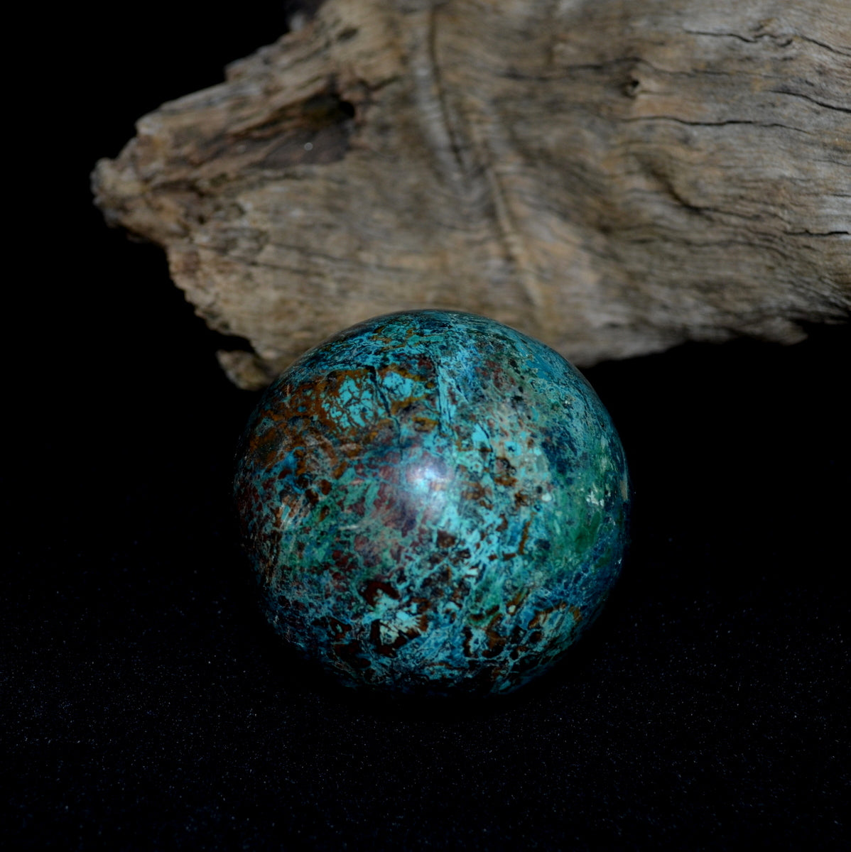Shattuckite Gemstone Sphere - Truth Humanity Encouragement Spiritual Healing - Shop Now at Illiom Crystals - Afterpay Available
