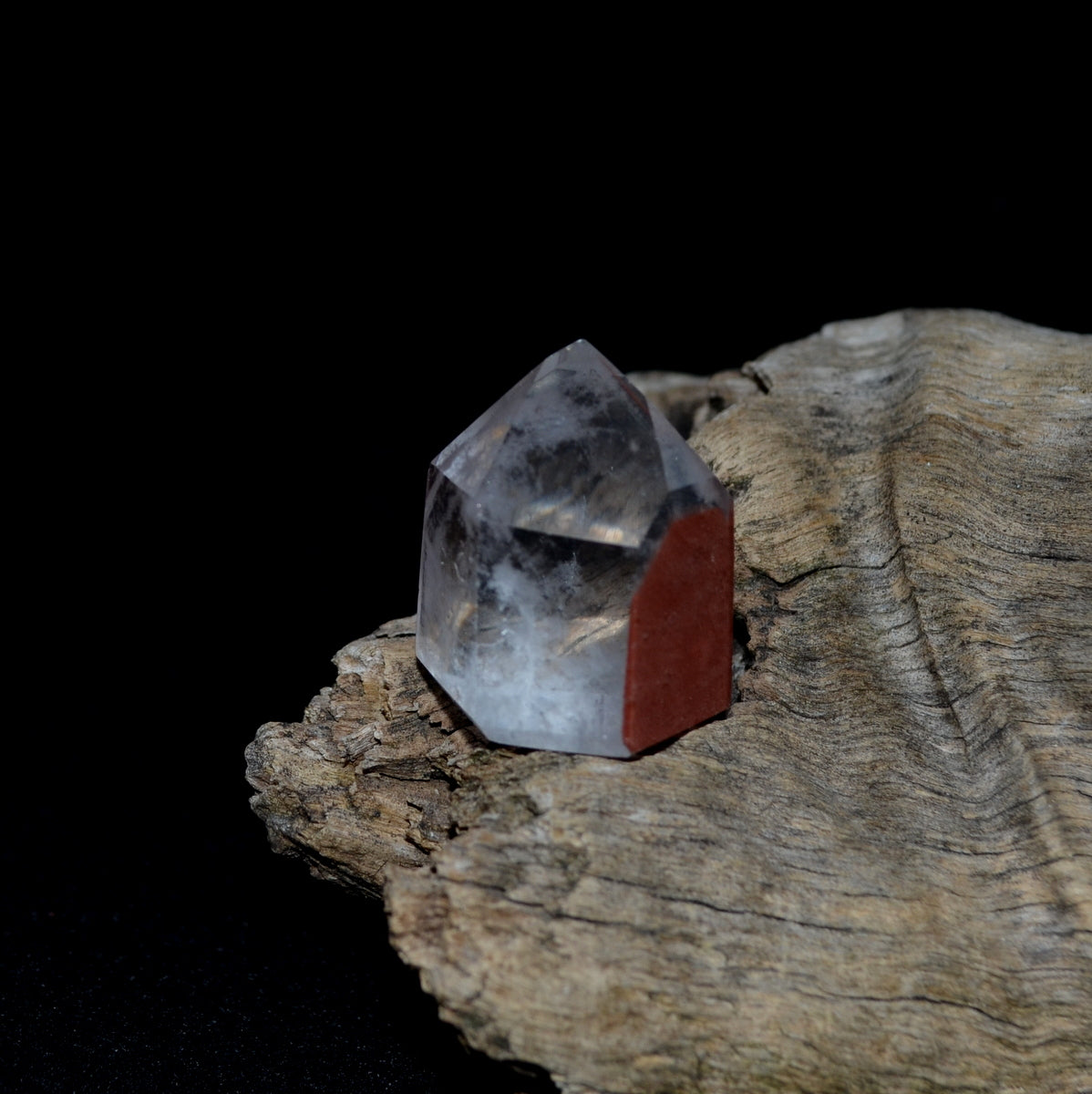 Red Hematite Phantom Quartz Point - Phantom Grounded Clarity - Shop now at Illiom Crystals - Afterpay Available