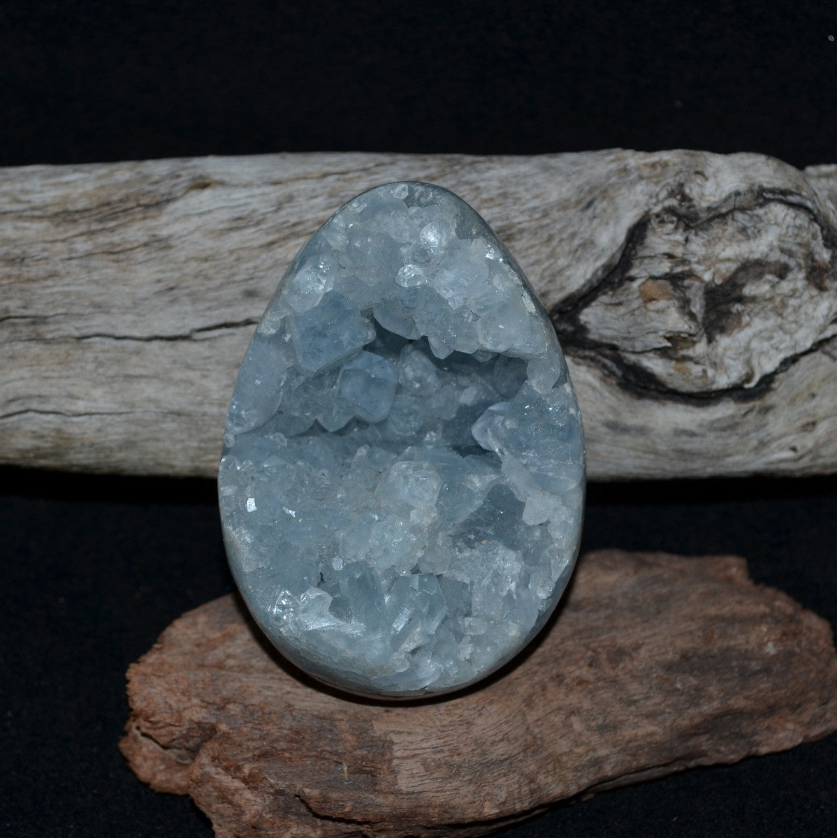 Celestite Large Geode Egg Madagascar - Celestial Realm Angels Harmony Calm - Shop now at Illiom Crystals