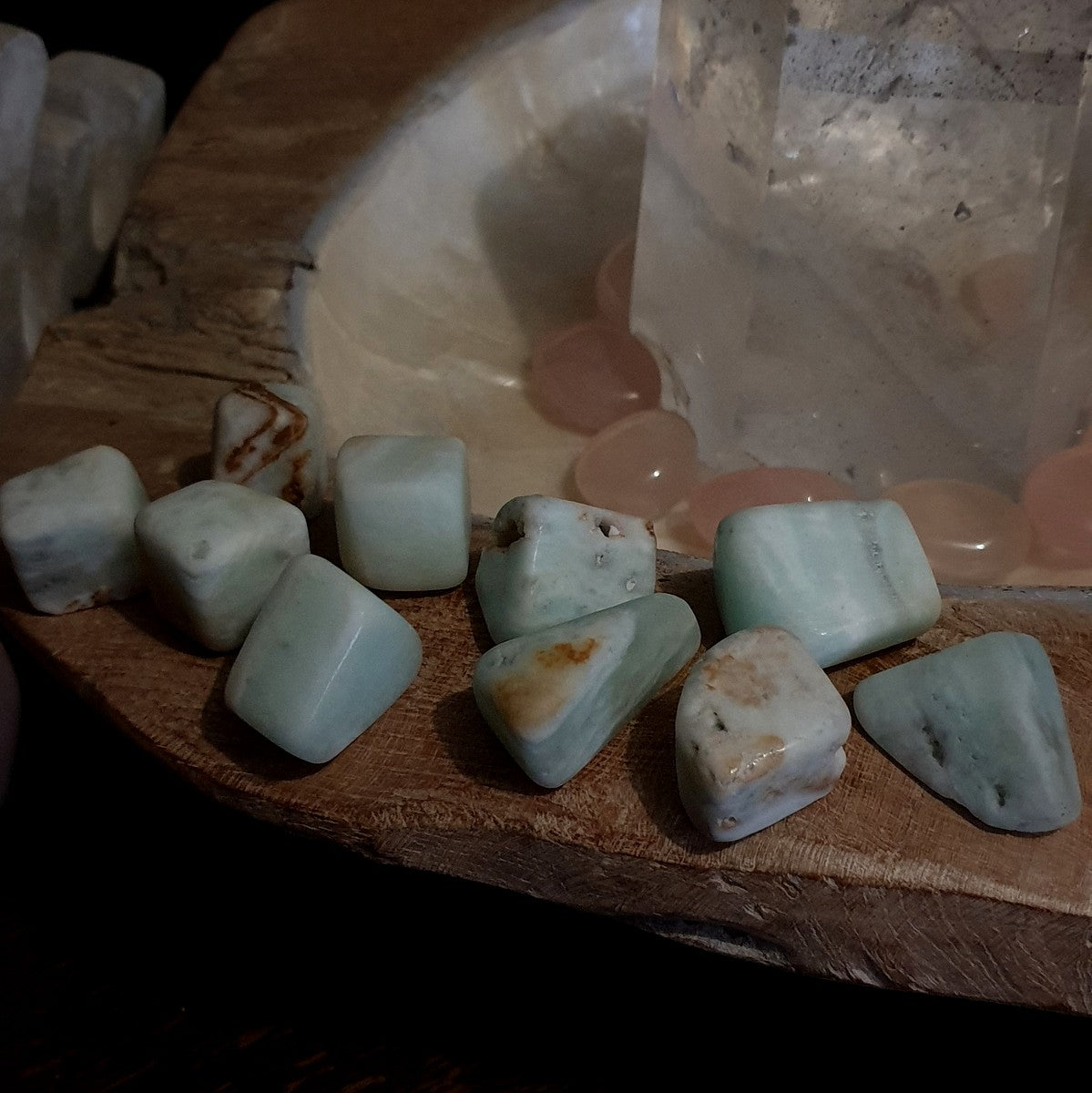Caribbean Calcite Large Tumble - Now at Illiom Crystals - Afterpay Available