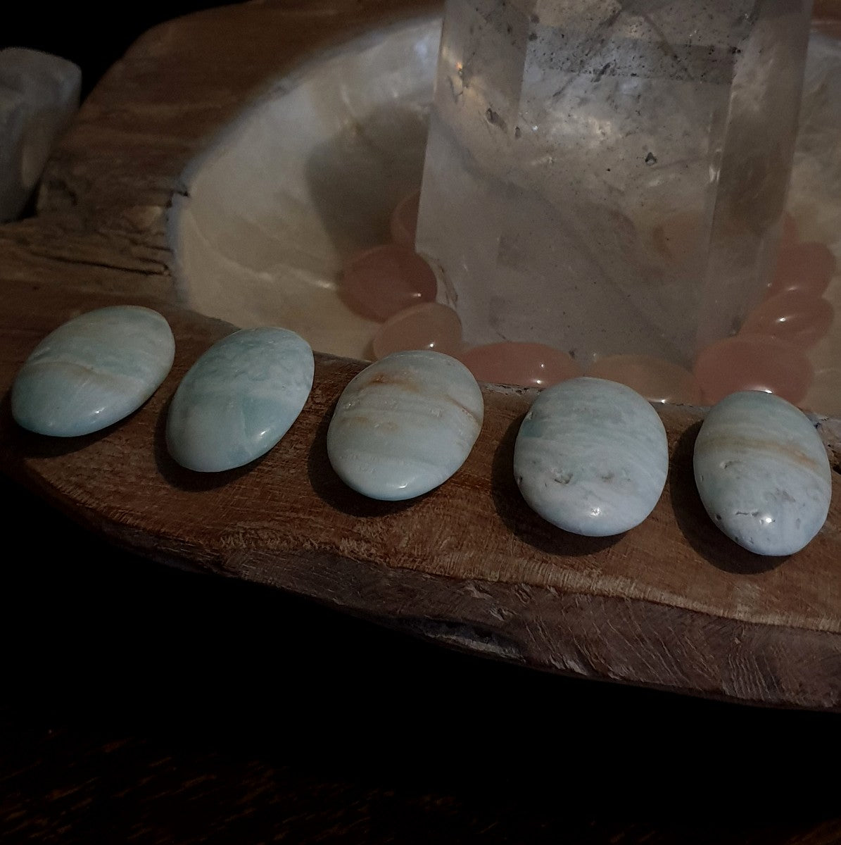 Blue Caribbean Calcite Worry Stone - Now at Illiom  Crystals - Afterpay Available