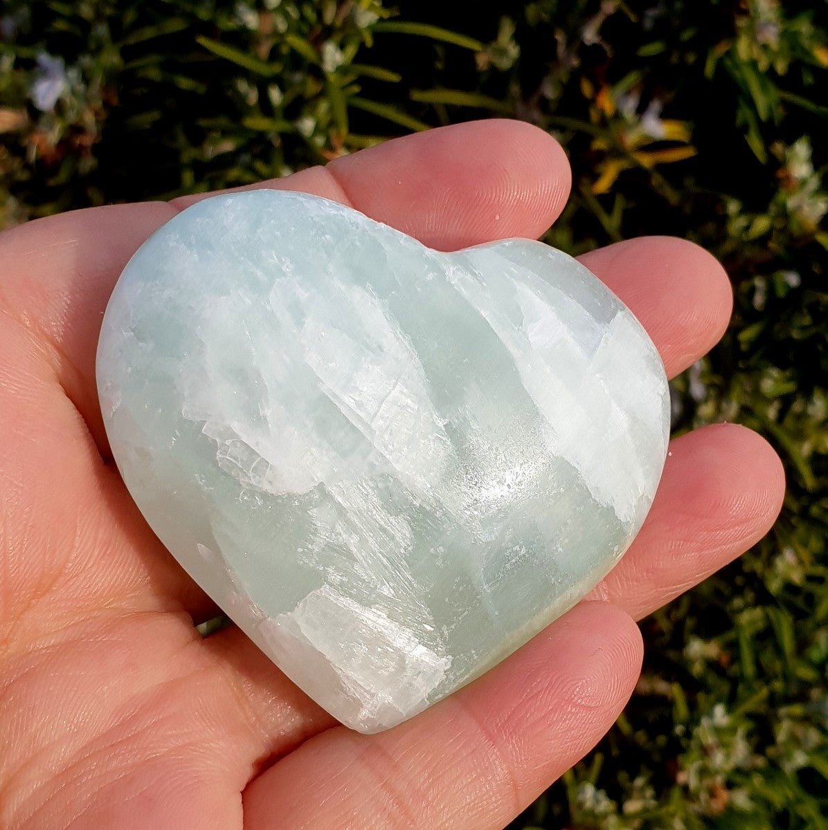 Blue Caribbean Calcite Gemstone Heart - Now at Illiom Crystals - Afterpay Available
