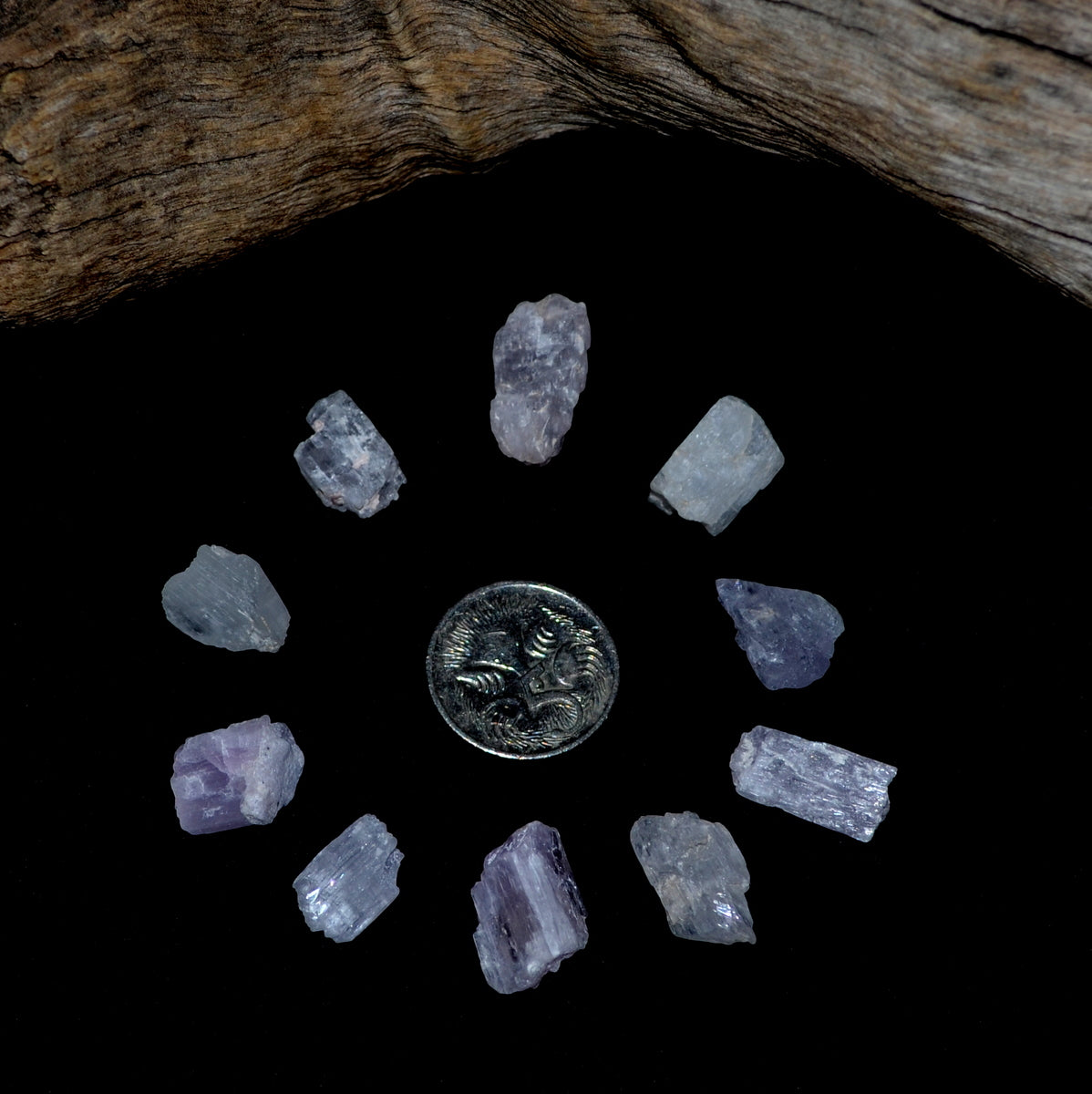 Kunzite Natural Crystals Gridding Set at Illiom Crystals - Afterpay Available