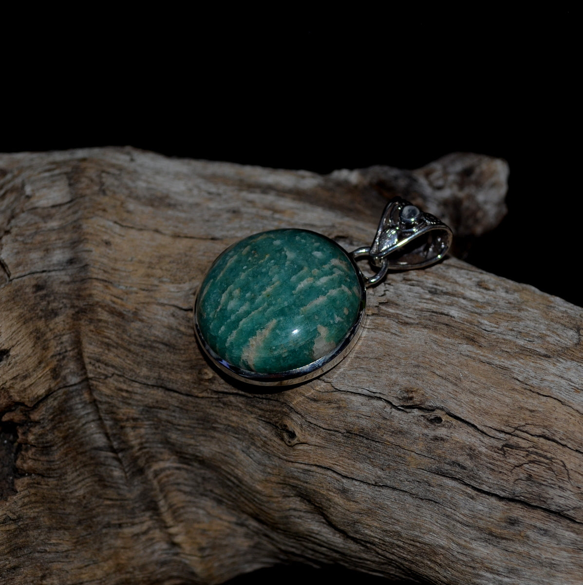 Amazonite 925 Sterling Silver Pendant at Illiom Crystals - Afterpay Available