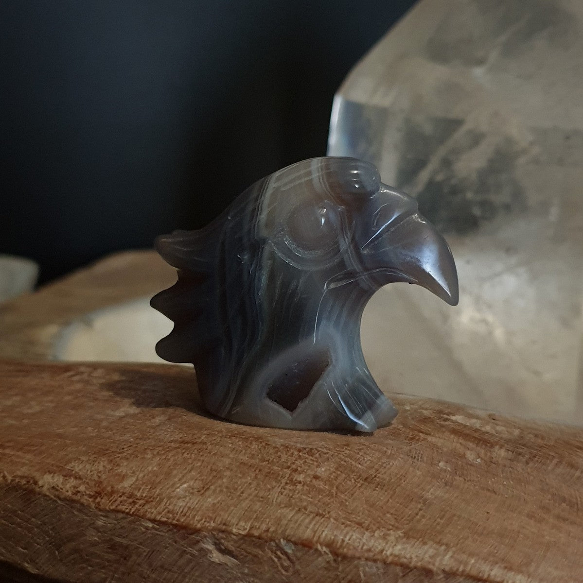 Agate Eagle Druzy Carving - Illiom Crystals - Afterpay Available