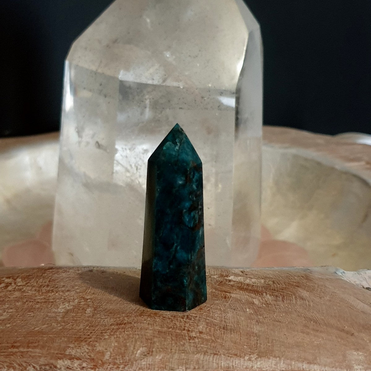 Blue Apatite Polished Point - Shop with Afterpay at Illiom Crystals