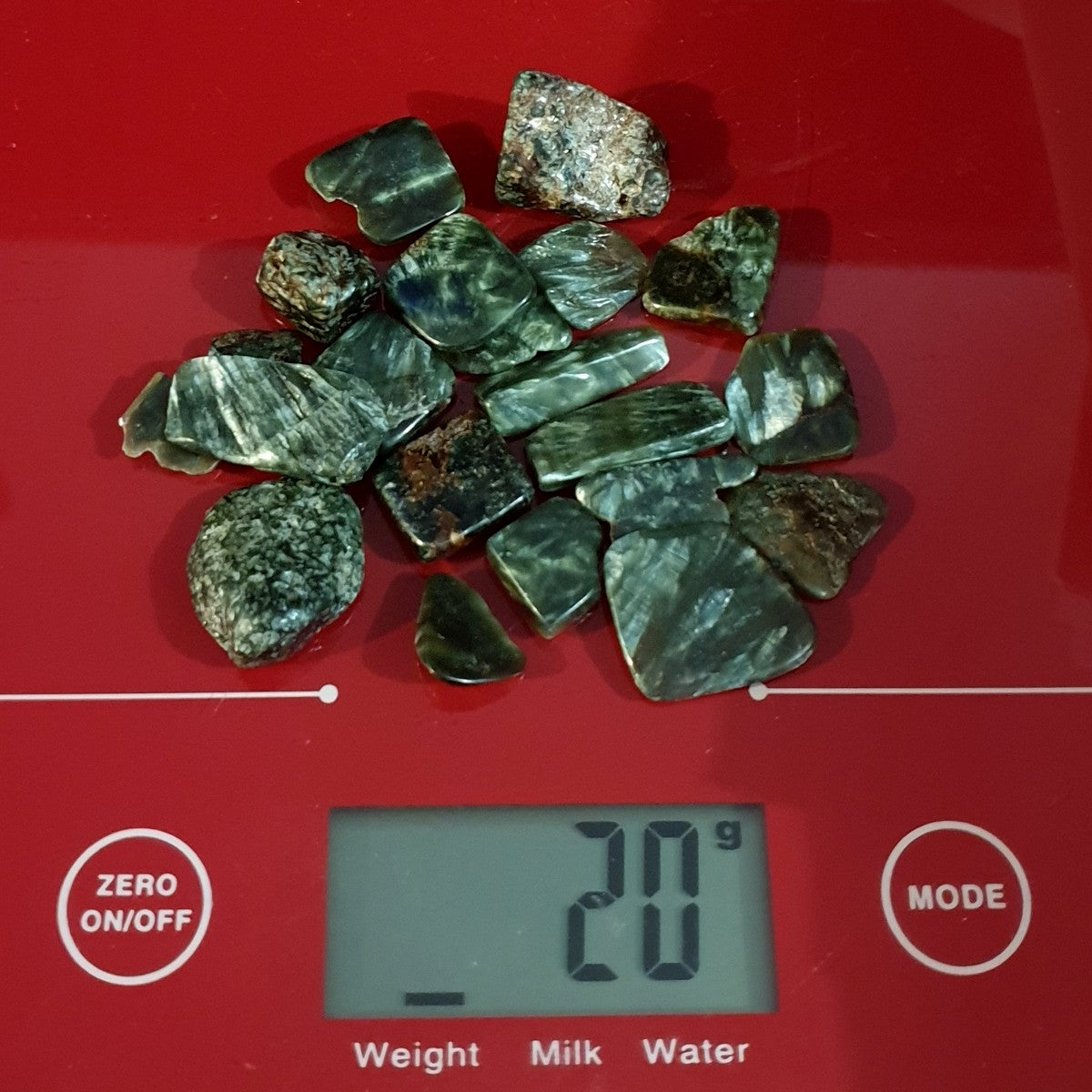 Seraphinite Mini Tumbles and Chips 20gms - Illiom Crystals - Afterpay Available