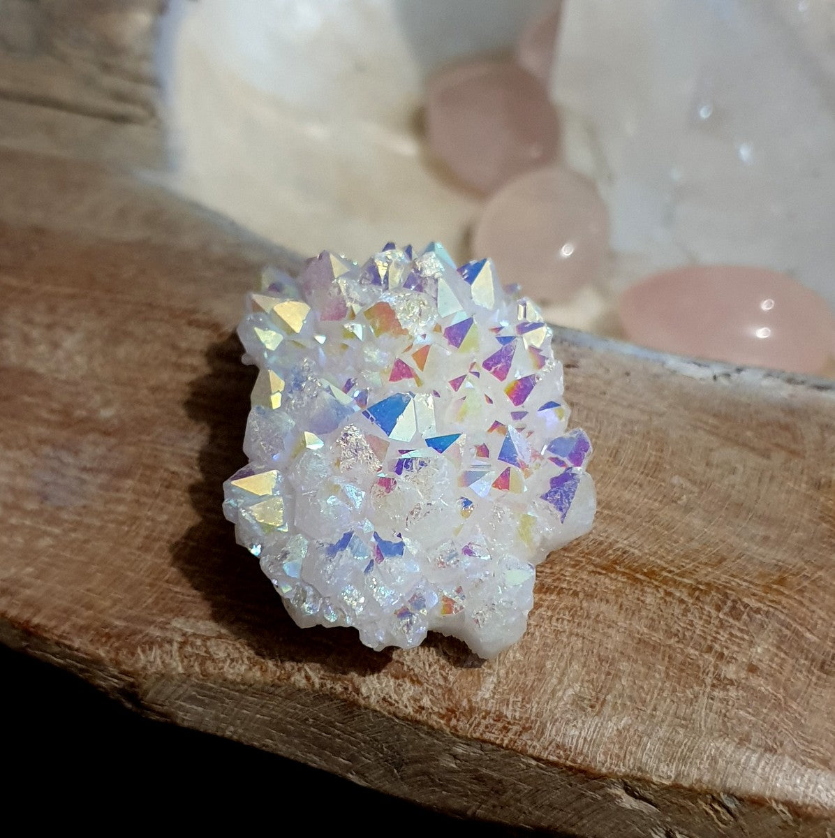 Angel Aura Quartz Cluster - Illiom Crystals - Afterpay Available