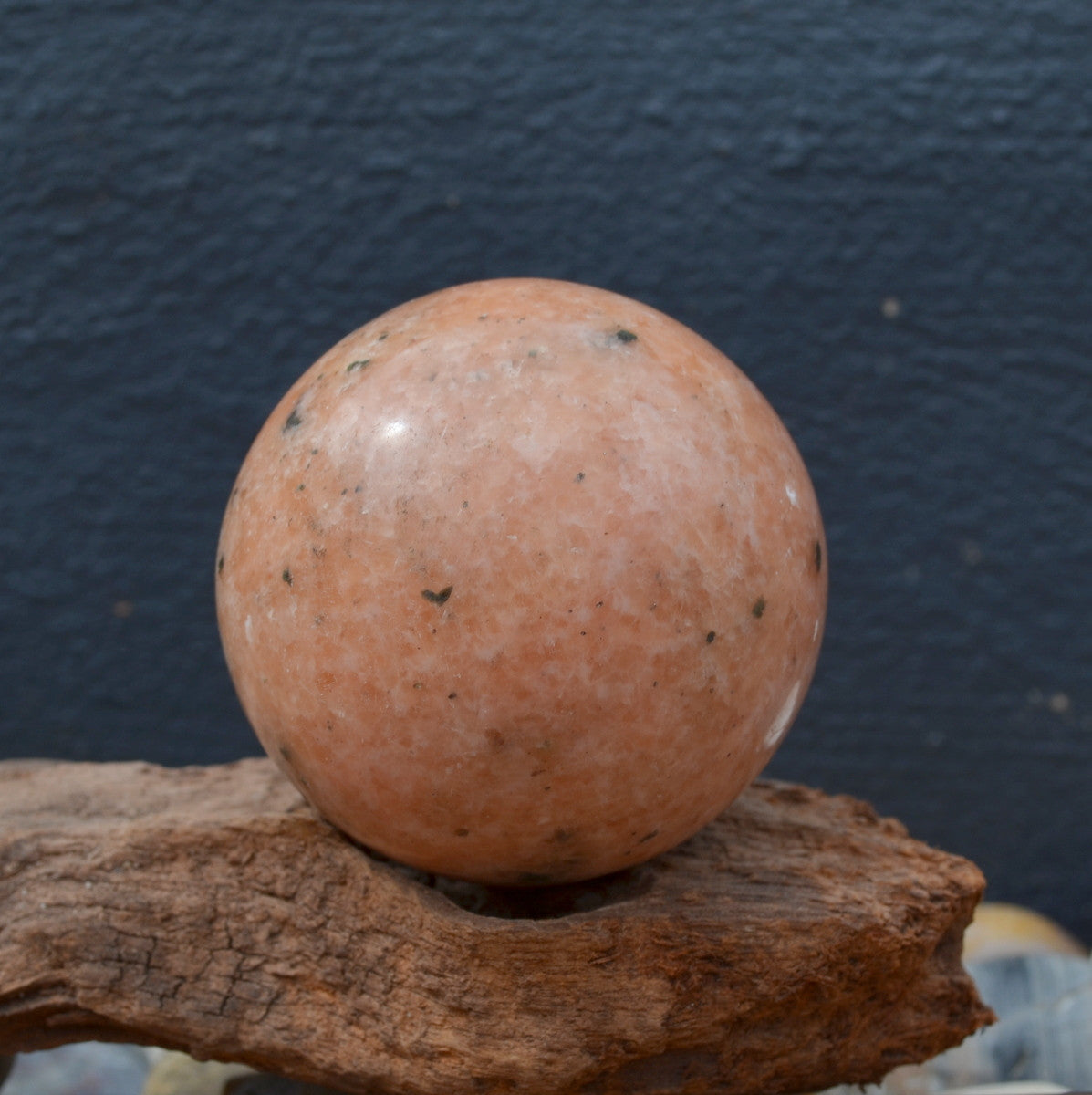 Orange Calcite Gemstone Sphere Madagascar - Illiom Crystals