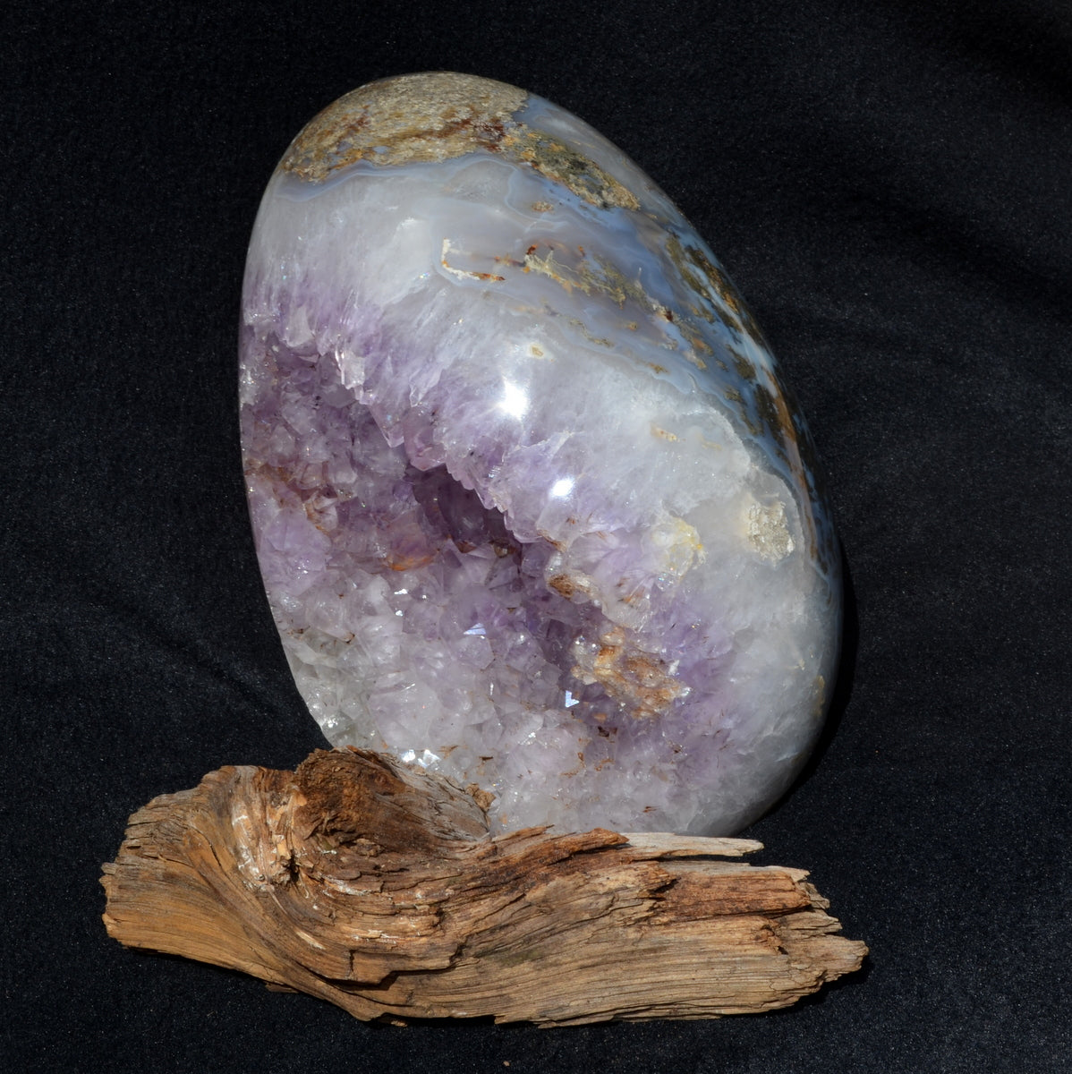 Stunning Amethyst Geode XXXL Gemstone Egg - Shop this amazing piece now at Illiom Crystals - We have Afterpay!