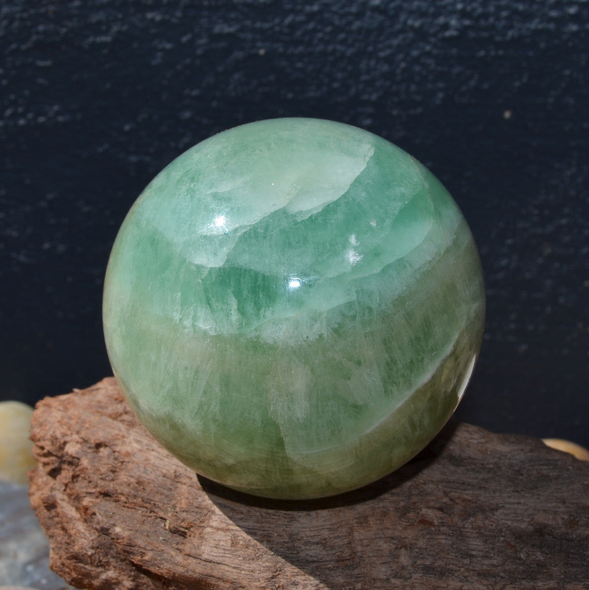 Green Fluorite Gemstone Sphere Madagascar - Illiom Crystals
