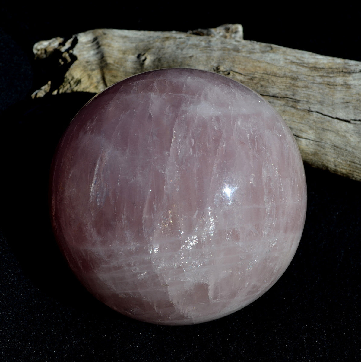Star Rose Quartz Large Sphere - Unconditional Love Heart Healing - Shop Now at Illiom Crystals - Now with Afterpay