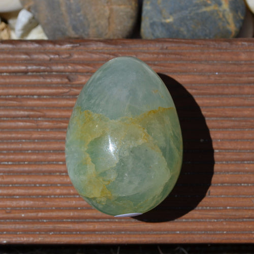 Green Fluorite Gemstone Egg Madagascar (T25-6C)