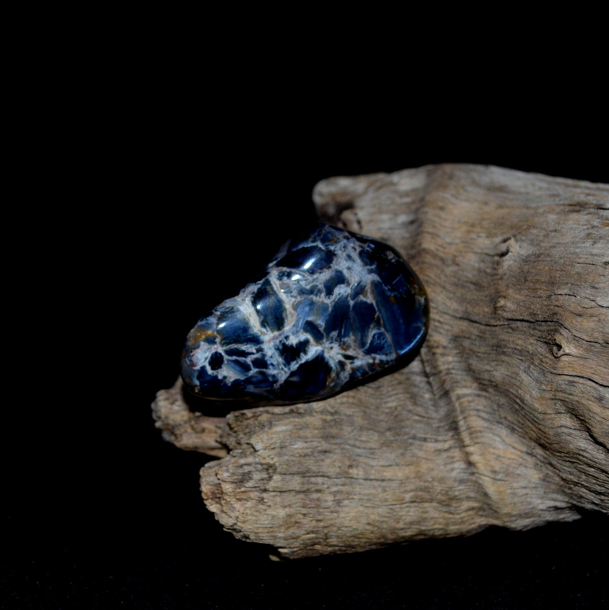 Blue Pietersite Large Tumble - Stone of the Storm Calming - Shop now at Illiom Crystals - Afterpay Available