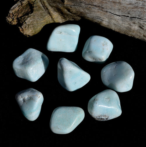 Blue Smithsonite Extra Large Tumbles Congo Each (T41-11)