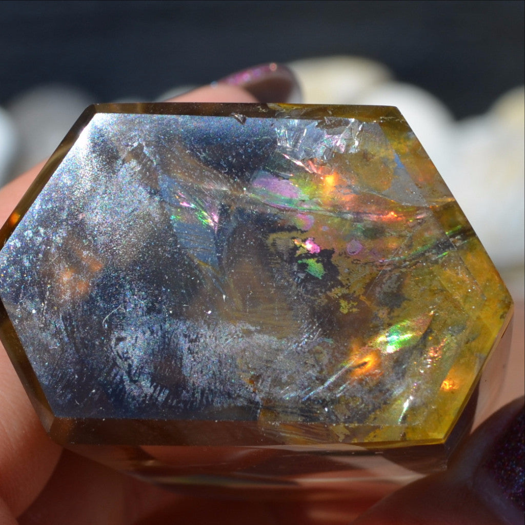 Exquisite Smoky Quartz Limonite Included Veils Polished A Grade Point Madagascar