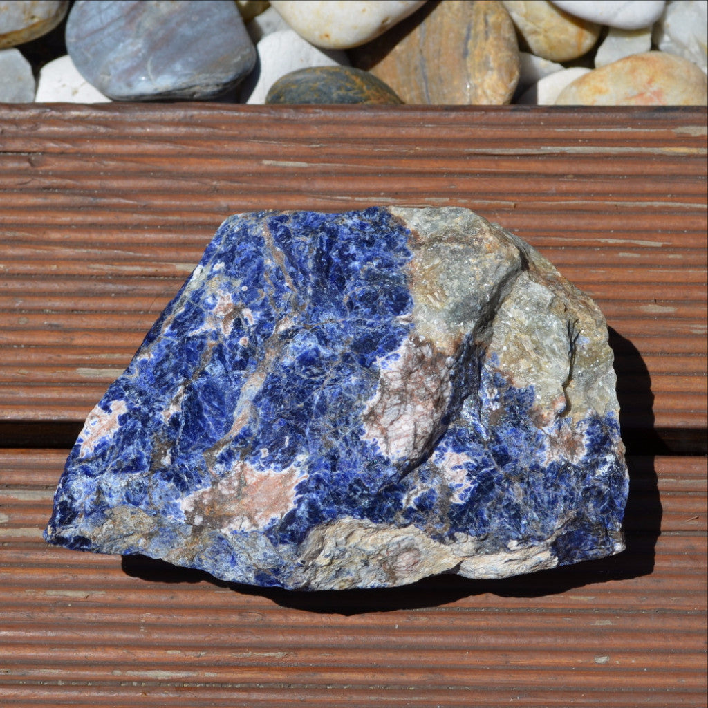 Blue Sodalite Rough Large Specimen Kunene River, Namibia