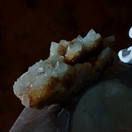 Spirit Quartz Large Cluster with Citrine (Limonite) (T48-19)