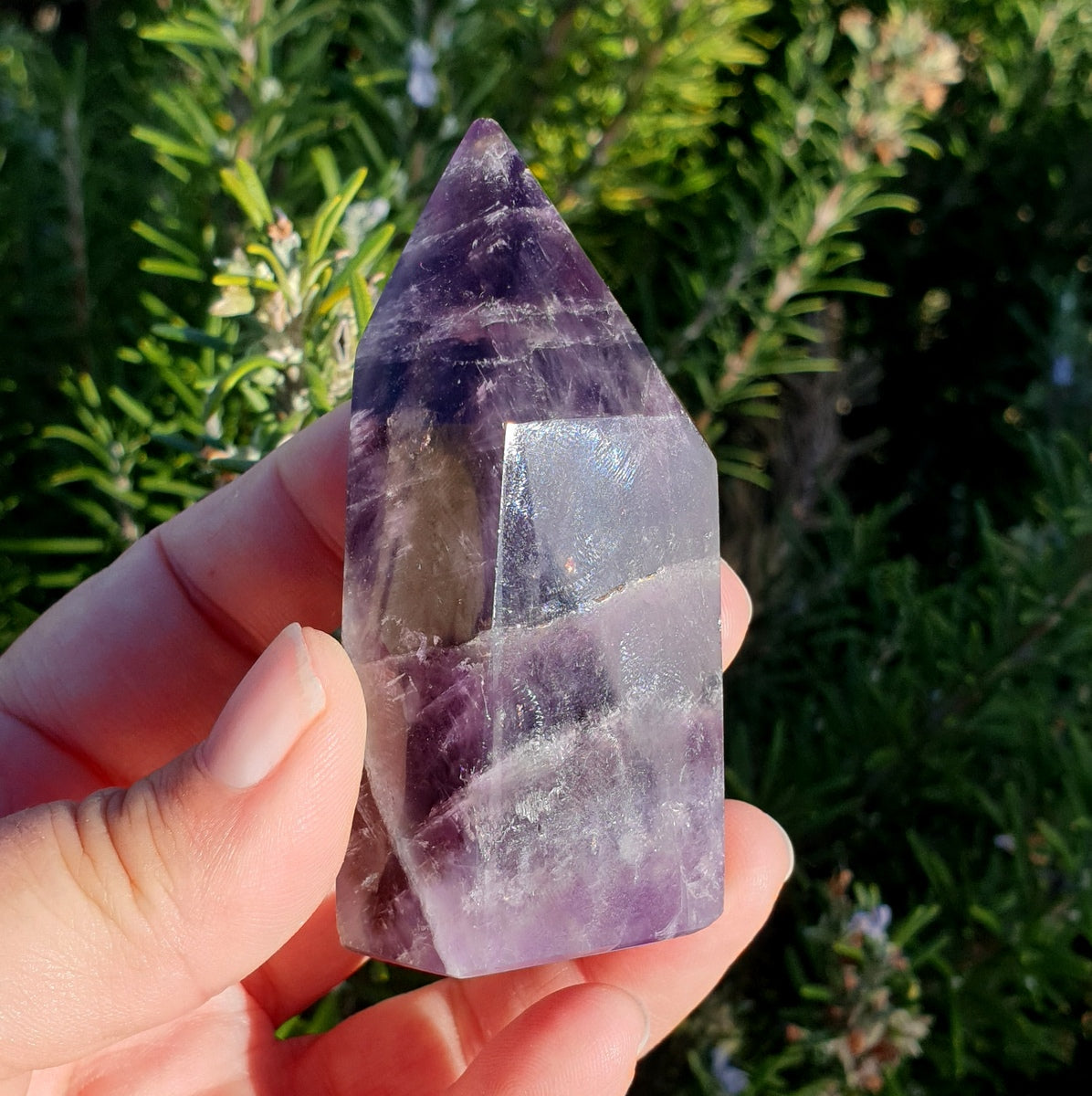 Zambian Amethyst With Smoky Polished Point - Illiom Crystals - Afterpay Available