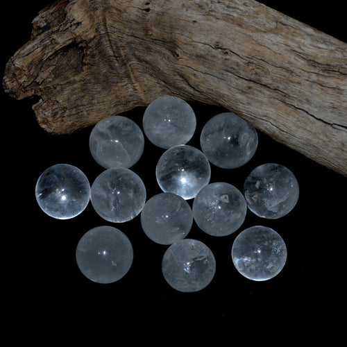 Clear Quartz Spheres 28mm Madagascar Each (T55-11C)