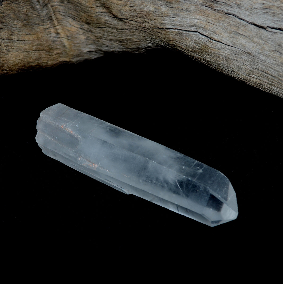 Naturally Terminated Single Point Clear Quartz Wand at Illiom Crystals - Afterpay Available