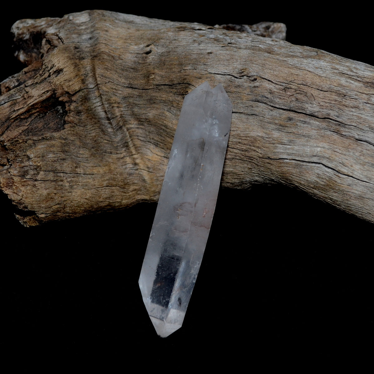Clear Quartz Natural Double Terminated Wand at Illiom Crystals - Afterpay Available