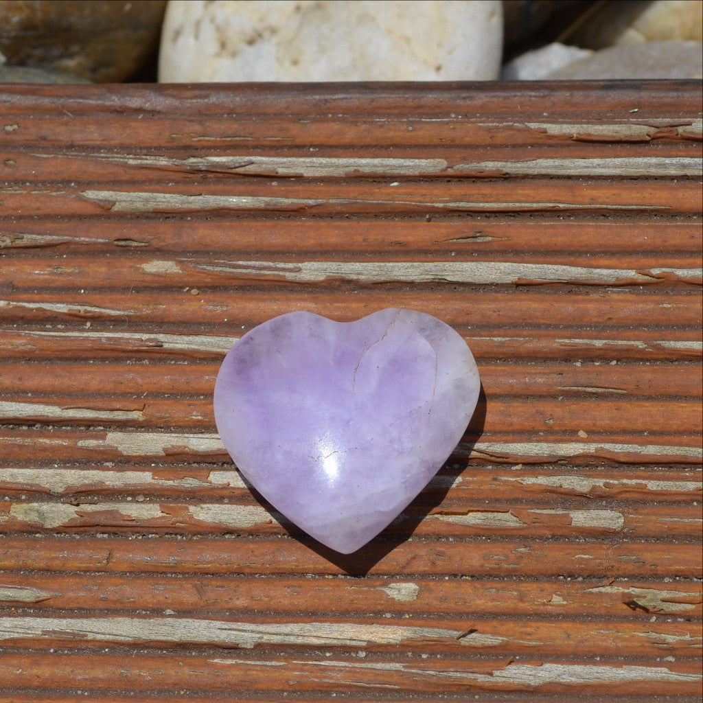 Amethyst Gemstone Heart Madagascar