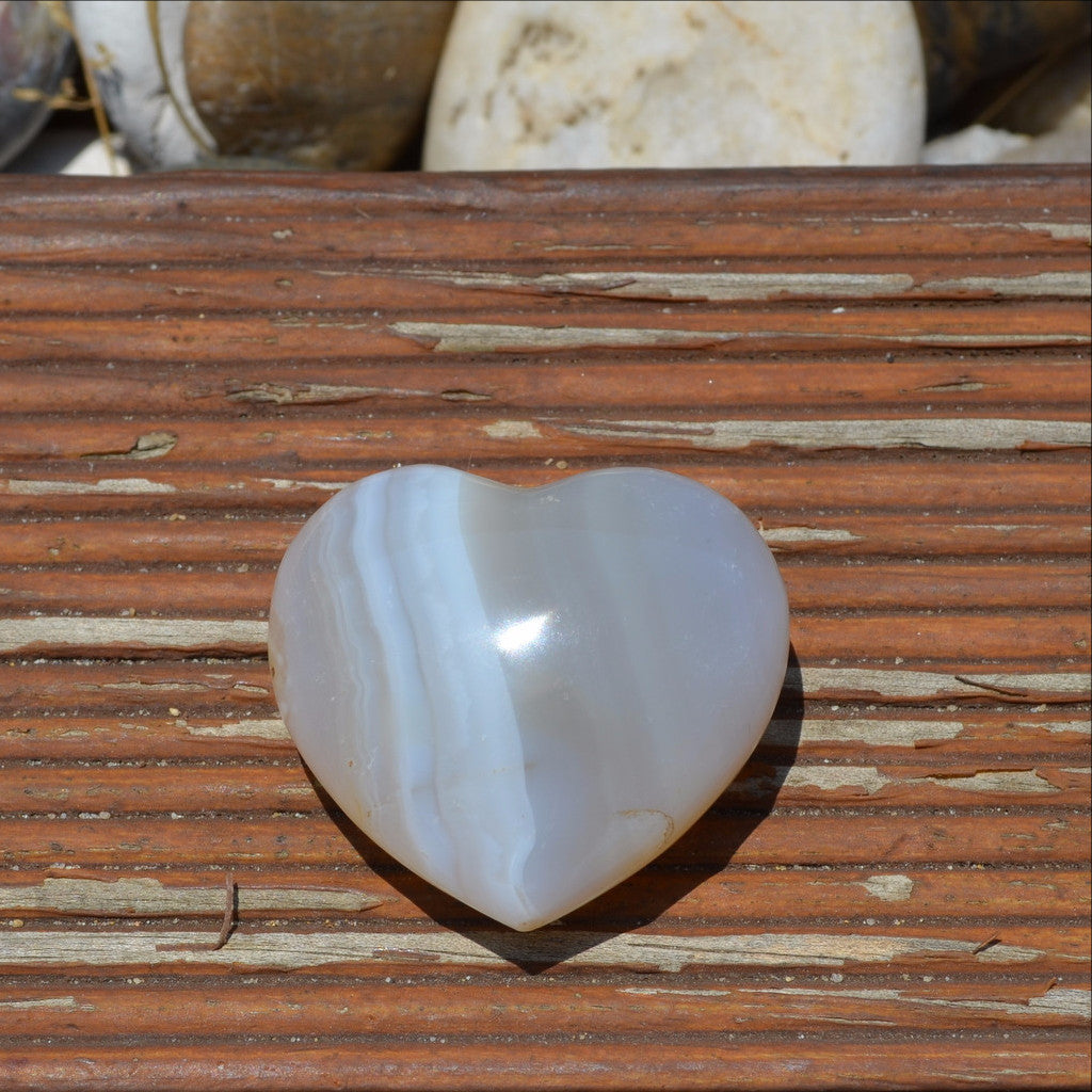 Natural Agate Gemstone Heart Madagascar