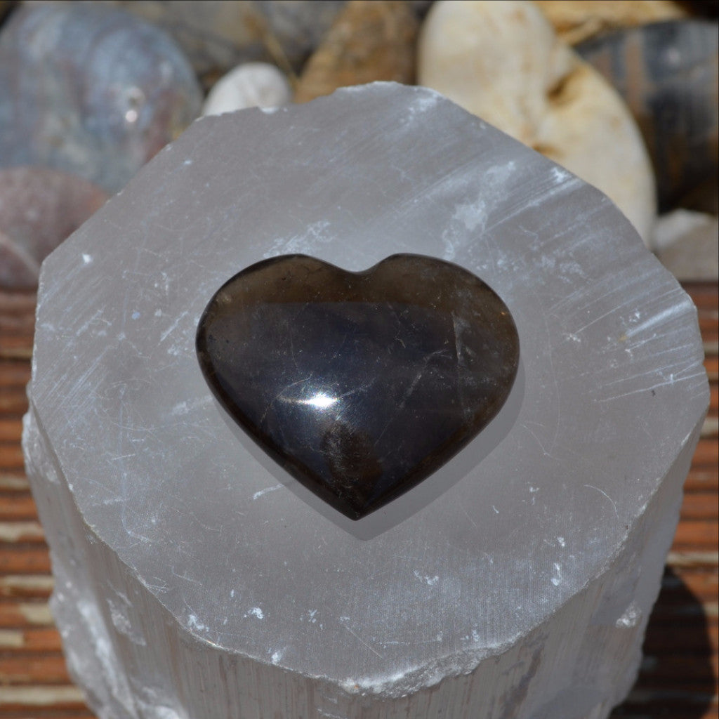 Morion Smoky Quartz Heart Madagascar