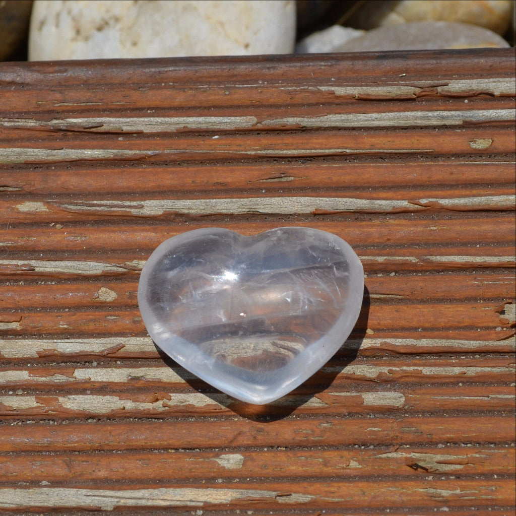 Girasol Moon Quartz Gemstone Crystal Heart