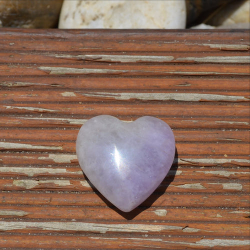 Amethyst Small Gemstone Heart (T58-14N2)