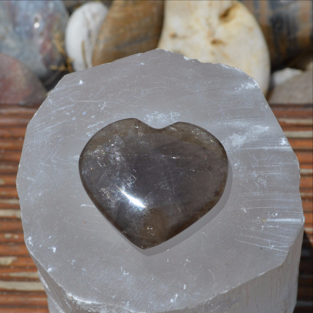 Smoky Quartz Gemstone Heart