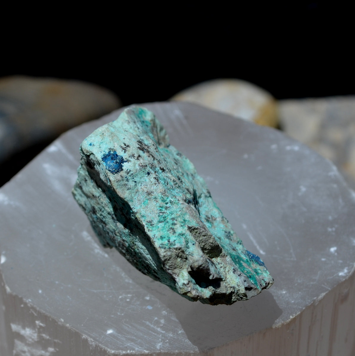 Cornetite with Chrysocolla - Restore Rebalance Heal Recreate - Shop Now at Illiom Crystals - Afterpay Available