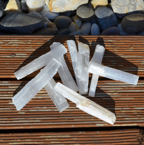 Raw Selenite Wands - Random Pick Each (T63-17)