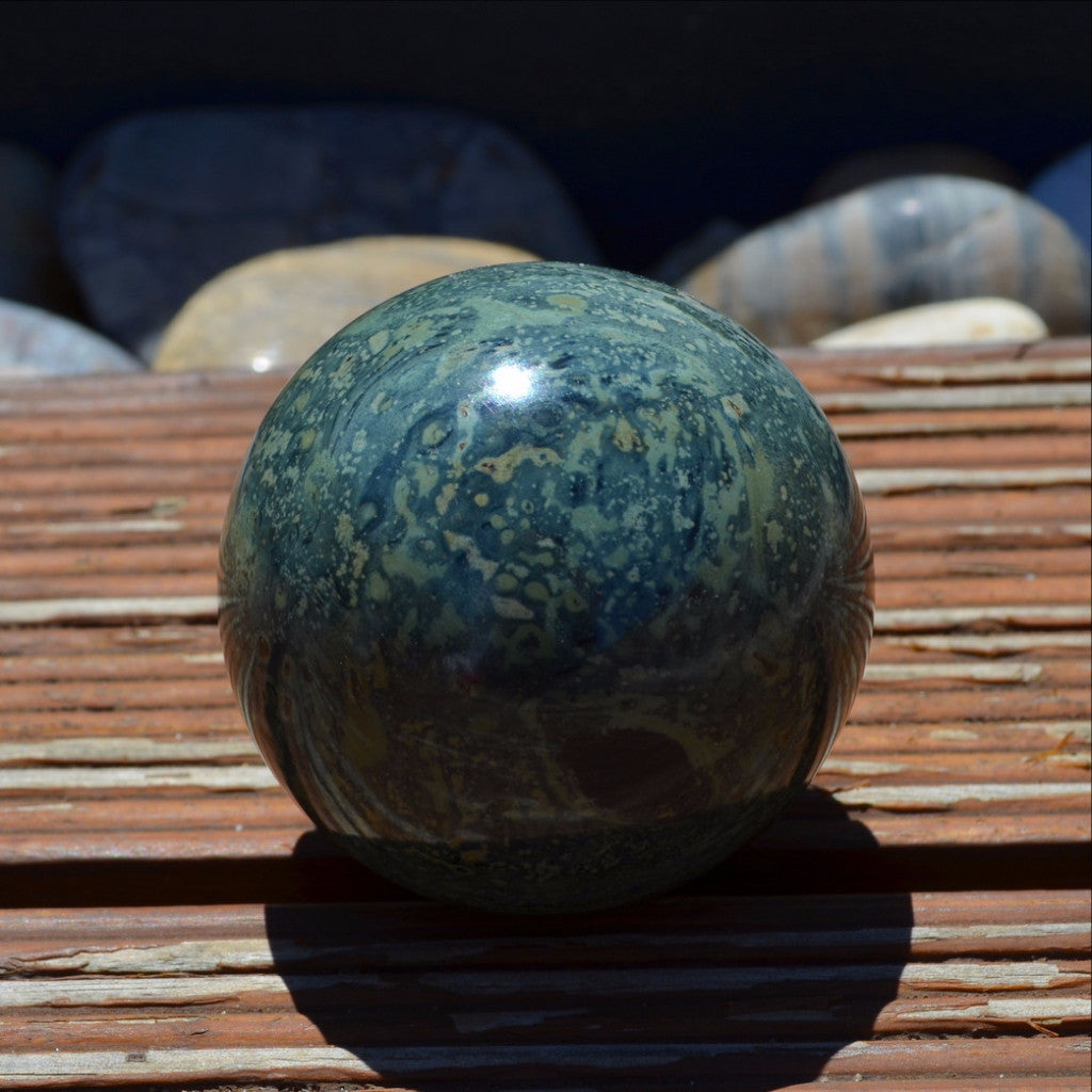 Gorgeous Kambaba Jasper Sphere Madagascar also known as Stromalite or Crocodile Jasper