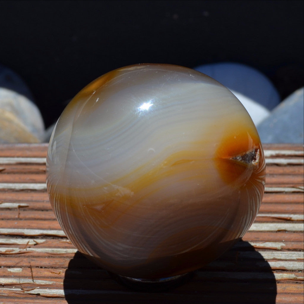 Gorgeous Earthy Agate Sphere Madagascar
