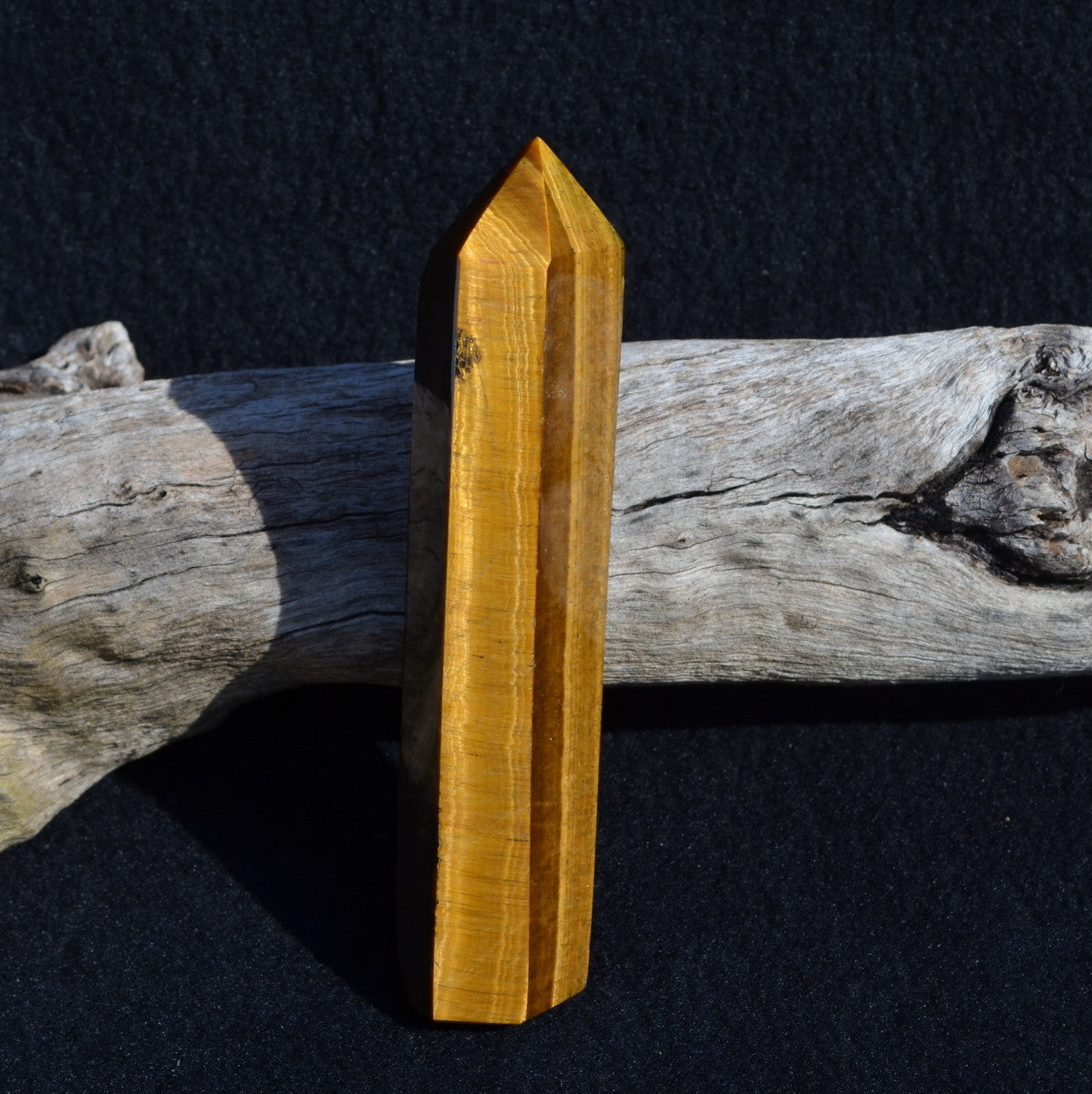 Tiger Eye Large Polished Point Africa - Strength Courage and Protection - Shop Now at Illiom Crystals
