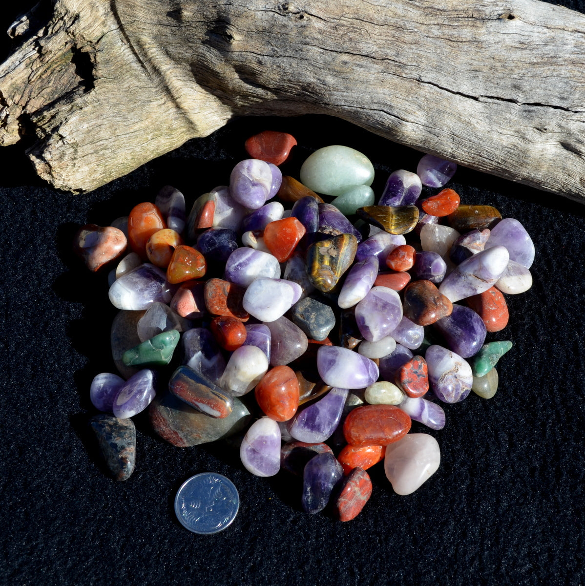 Mixed Tumblestones Africa 200gms Rose Quartz Tiger Eye Unakite Carnelian - Shop Now at Illiom Crystals - We Have Afterpay