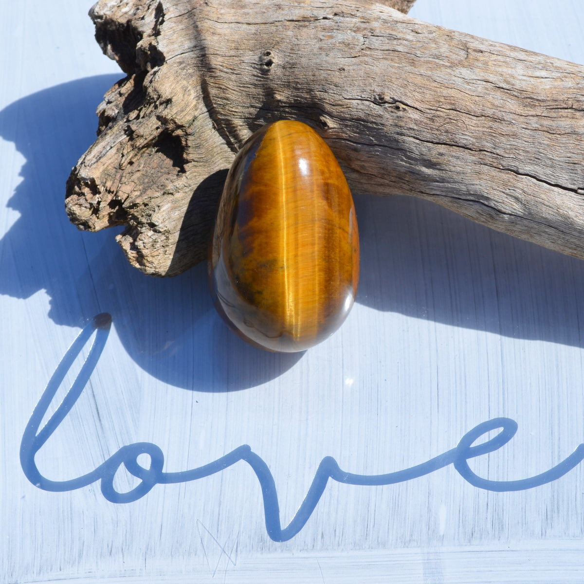 Tiger Eye Large Gemstone Egg - Strength Courage Optimism - Shop Now at Illiom Crystals - Now with Afterpay