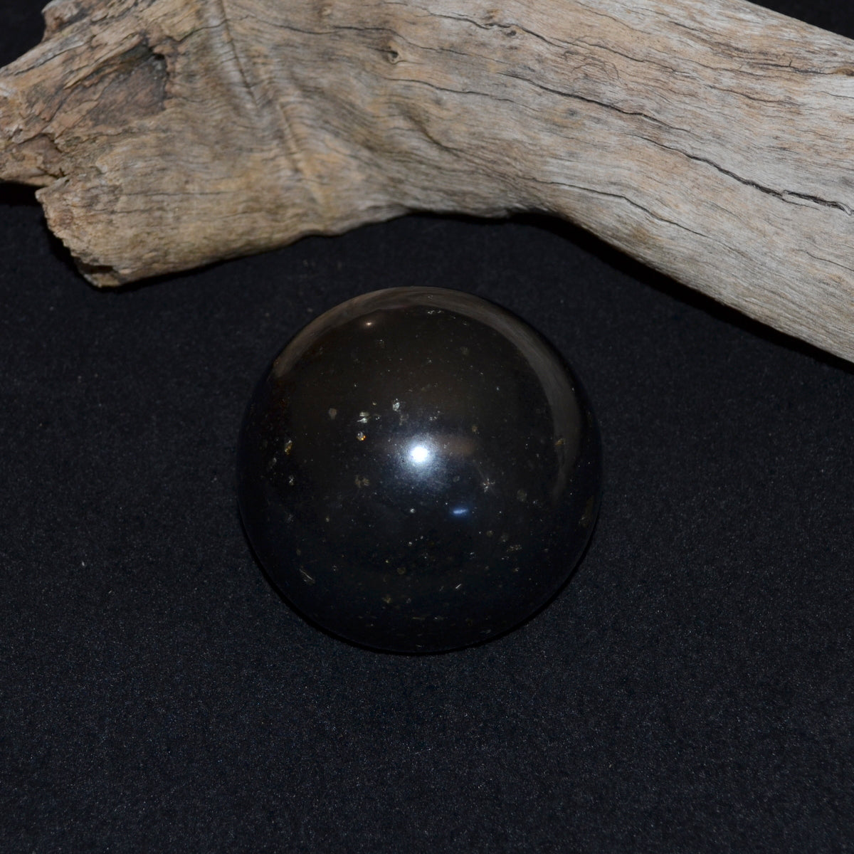 Black Basalt Sphere - Wisdom Protection Grounding - Shop Now at Illiom Crystals - We have Afterpay