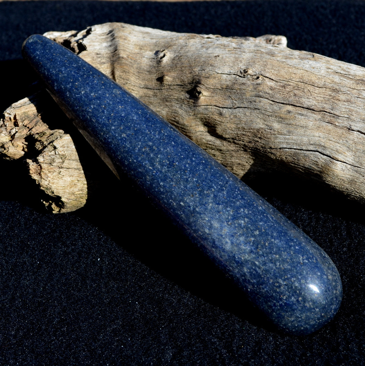 Lazulite Rare Polished Large Massage Wand - Insightful Calming Meditation - SHOP Now at Illiom Crystals - Afterpay Available