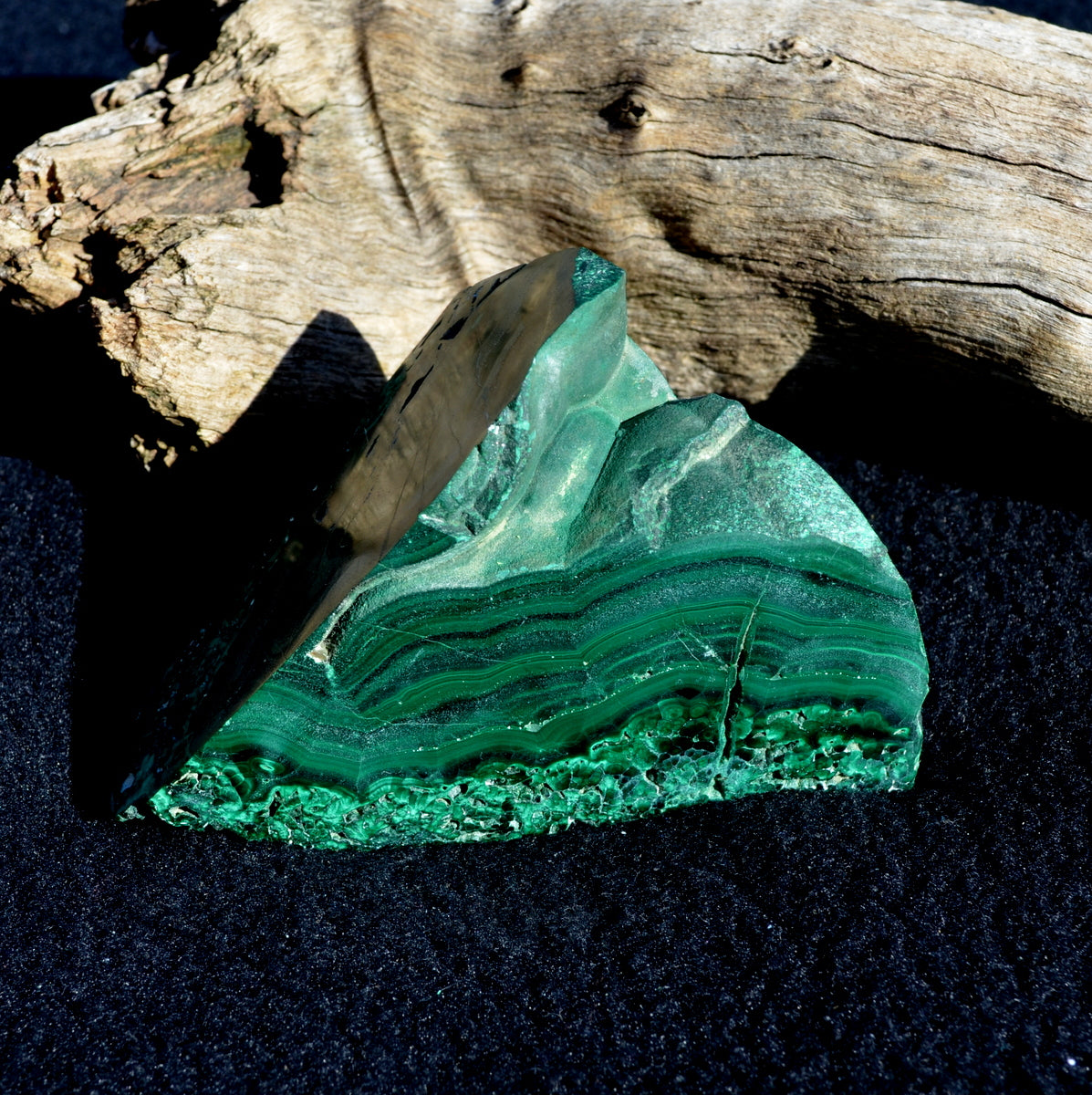 Malachite Polished Natural Specimen - Heart Protection Healing - Shop Now at Illiom Crystals.  Now with Afterpay