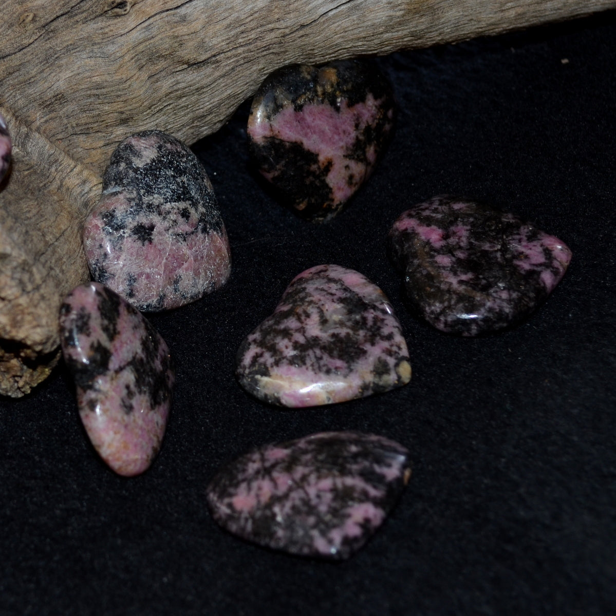 Rhodonite Manganese 35mm Gemstone Heart - Heart Love Grounding -  Shop Now at Illiom Crystals - Afterpay Available