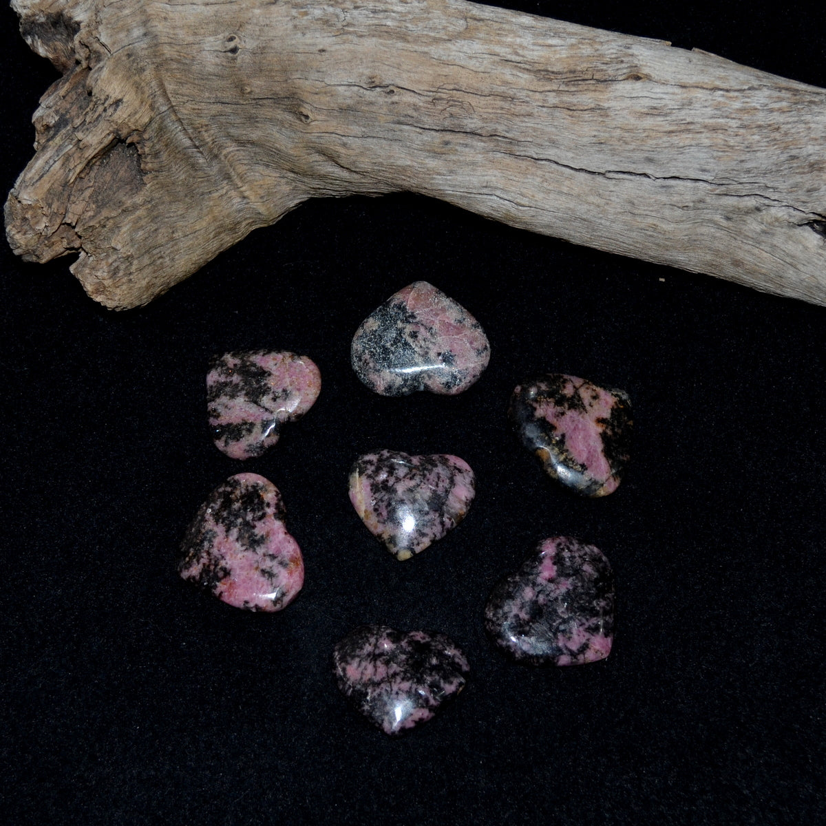 Rhodonite Gemstone Heart Asst Each (T80-12B)