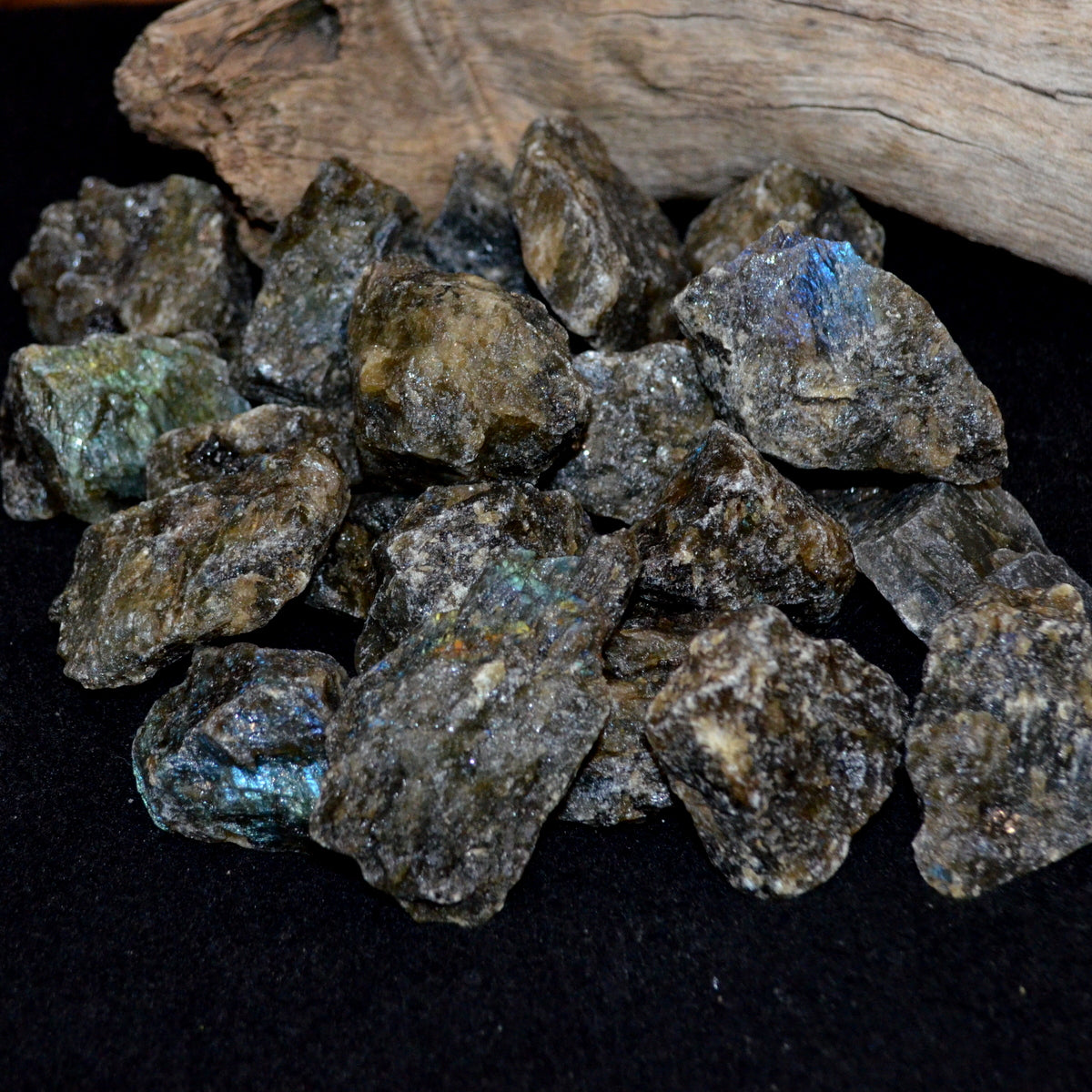 Labradorite Natural Chunks - Mystery Magic Grounding - Shop Now at Illiom Crystals - Afterpay Available