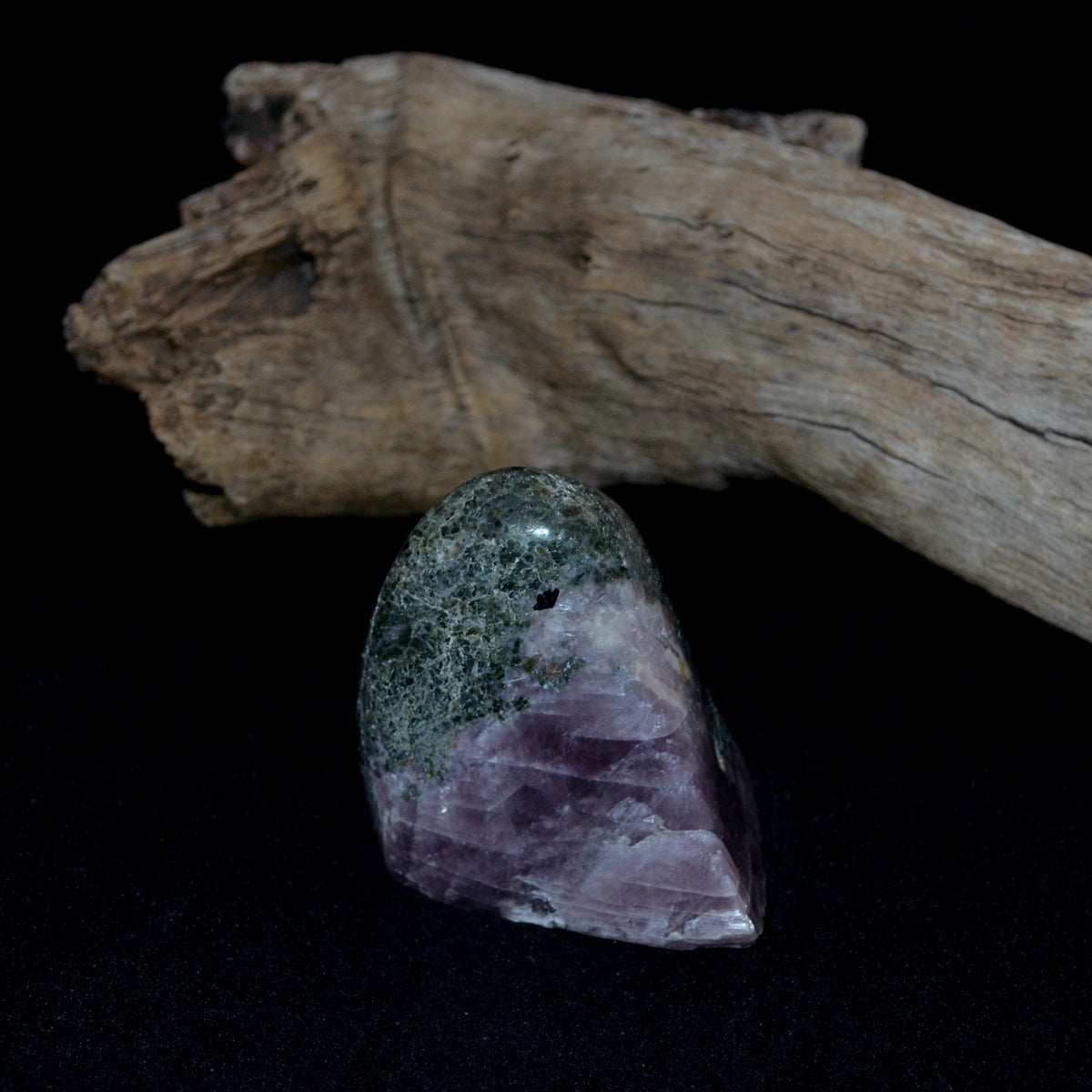 Purple Anhydrite (Angelite) with Diopside Freeform RARE - Nurturing Intuition Balance - Shop Now at Illiom Crystals - Afterpay Available