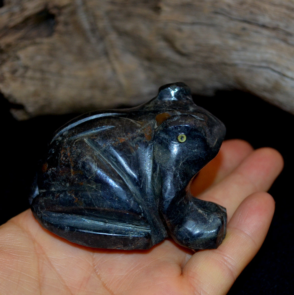 Cuprite Large Hand Carved Frog - Humanity Encouragement New Directions - Shop Now at Illiom Crystals - Afterpay Available