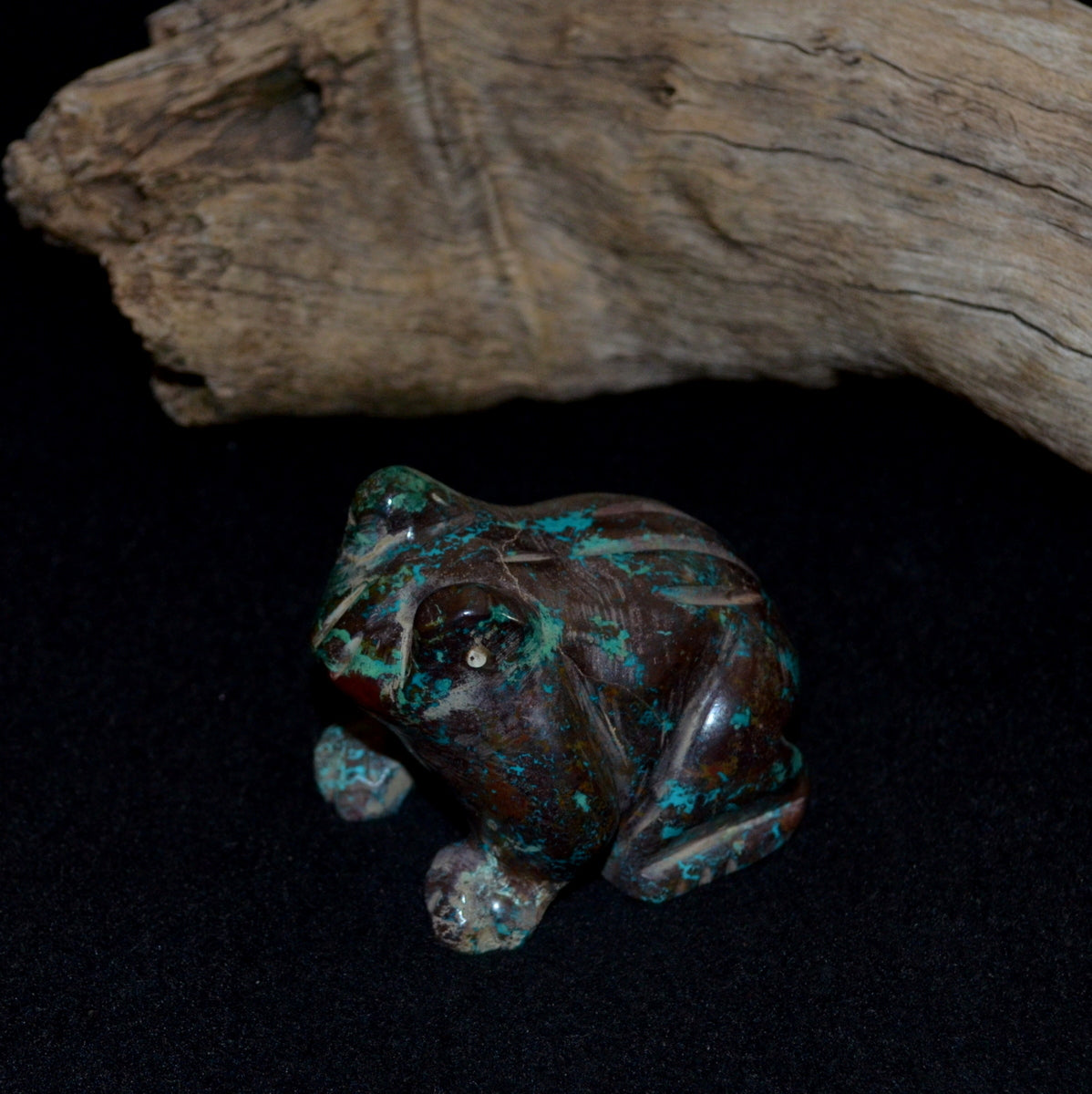 Shattuckite Cuprite Chrysocolla Hand Carved Frog - Humanity Spiritual Protective Grounding - Shop Now at Illiom Crystals - Afterpay Available