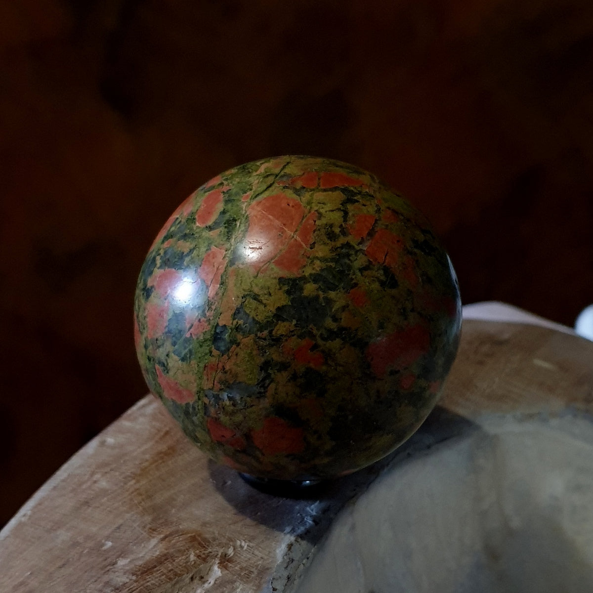 Unakite Epidote Feldspar 70mm Sphere - Shop Now at Illiom Crystals - Afterpay Available