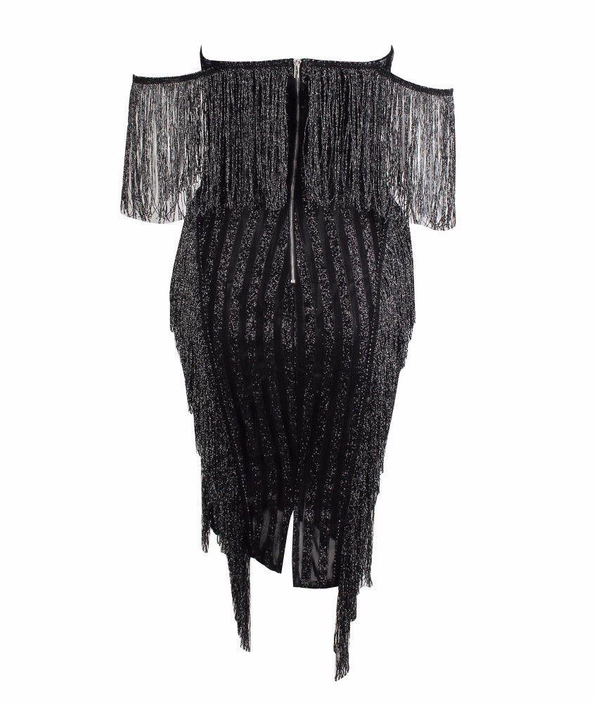 Valentina Fringe Dress